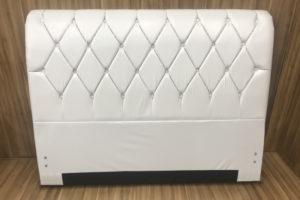 Cabeceira 1.38 m - Casal - Modelo Lavínia - Korino Branco