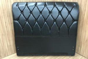 Cabeceira 1.98 m - King Size - Modelo Lavínia - Corino Marrom 2