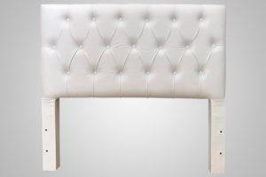 Cabeceira Queen Branco 158cm de Largura - Modelo Hera
