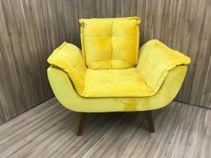 Poltrona 0.89 m - Modelo Julia - Amarelo