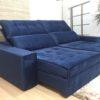 Sofá Retrátil Azul 2.50 m de Largura - Modelo Quebec