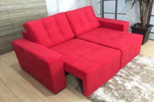 Sofá Retrátil Vermelho 1.80 m de Largura- Modelo Malibu -