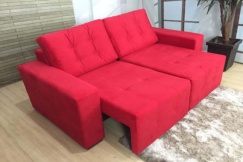 Sofá Retrátil Vermelho 1.80 m de Largura – Modelo Malibu ...