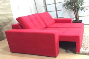 Sofá Retrátil Vermelho 1.80 m de Largura- Modelo Malibu - Liquidação