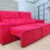 Sofá Retrátil Vermelho 2.00 m de Largura- Modelo Zeus