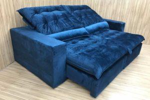 Sofá Retrátil 1.80 m - Modelo Laura - Azul 325