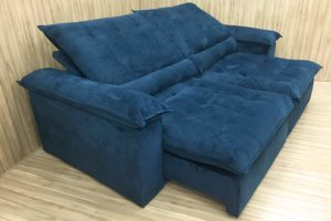 Sofá Retrátil 2.10 m - Modelo Campinas - Azul 325