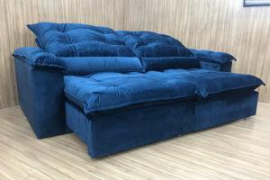 Sofá Retrátil 2.10 m - Modelo Maricá - Azul 325