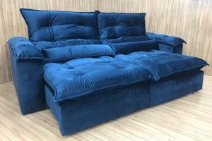 Sofá Retrátil 2.30 m - Modelo Maricá - Azul 325