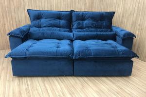 Sofá Retrátil 2.50 m - Modelo Maricá - Azul 325