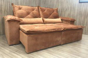 Sofá Retrátil 2.50 m - Modelo Zuqui - Terracota 509
