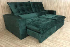 Sofá Retrátil 2.90 m - Modelo Laura - Verde 324
