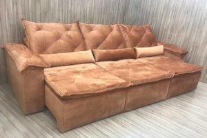 Sofá Retrátil 2.90 m - Modelo Quintela - Terracota 509