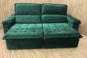 Sofá Retrátil 2.90 m - Modelo Vergas - Verde 324
