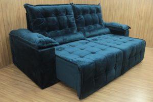Sofá Retrátil Azul 2.30 m de Largura - Modelo Jacar
