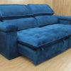 Sofá Retrátil Azul 2.90 m de Largura - Modelo Santoré