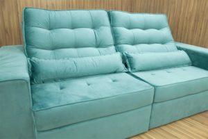 Sofá Retrátil Azul Piscina 2.30 m de Largura - Modelo Ipanema