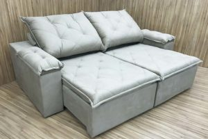 Sofá Retrátil preto Belagio oferece para você e sua família um conforto, beleza e qualidade. Além disso, seu assento é retrátil.