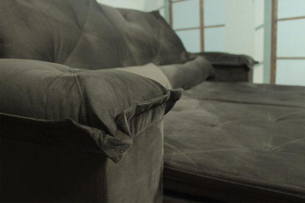Sofá Retrátil Marrom 2.30 m de Largura - Modelo Betton