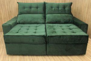 Sofá Retrátil Verde 2.30 m de Largura - Modelo Turquia