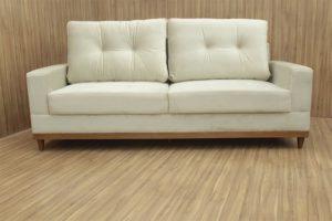 Sofá de 2 Lugares Bege 2,15 m de Largura - Modelo Milena
