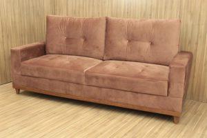 Sofá de 2 Lugares Marrom 2,10 m de Largura - Modelo Milena