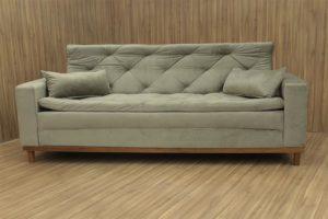 Sofá de 3 Lugares Bege 2,12 m de Largura - Modelo Sofia