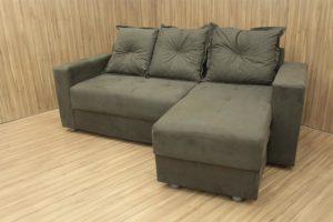 Sofá de 3 Lugares Marrom 2,00 m de Largura - Modelo Chaise Taquara