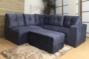 Sofá de Canto Azul – Modelo Anetho